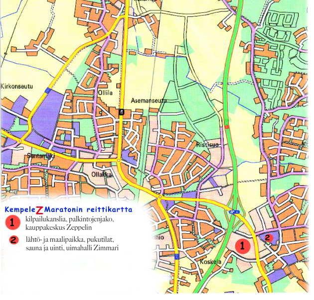 Kempeleen kartta