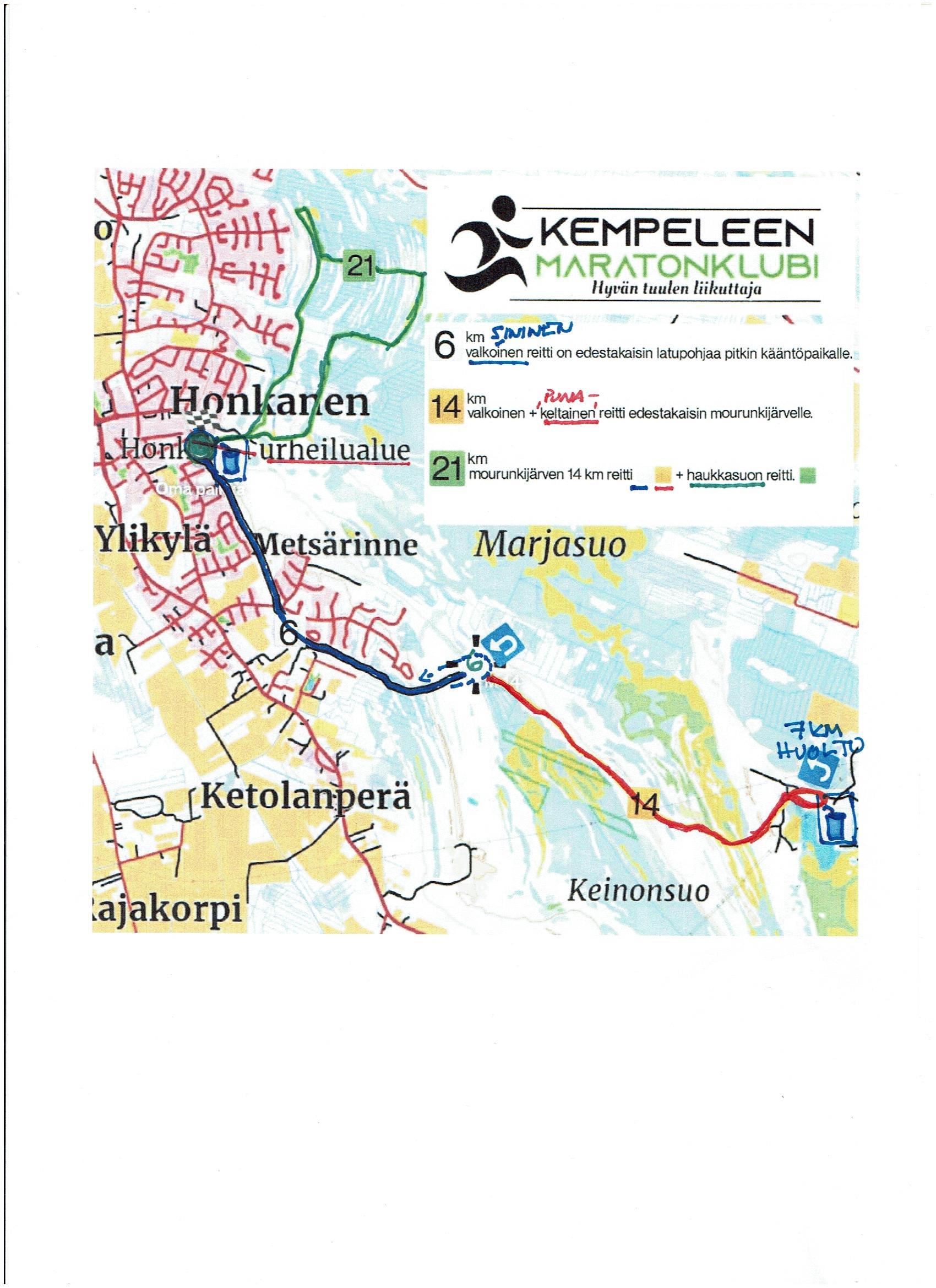 Mourunki reittikartta 2021 kuva